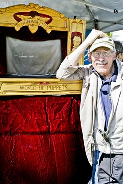 LIVING THE ART LIFE:  SLO icon Don Wallis continues to devote himself to his art. - PHOTO BY GLEN STARKEY
