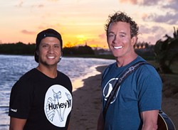 ISLAND STYLE:  On March 14, one of Hawaii's hottest groups—Hapa (with singer Kapono Nā'ili'ili and guitarist Barry Flanagan)—plays Cal Poly's Spanos Theatre. - PHOTO COURTESY OF HAPA
