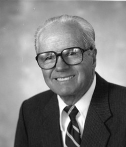 AGRICULTURAL PIONEER:  Ernie Righetti, pictured here in a portrait taken when he was named Agriculturalist of the Year by the local farm bureau, died on Jan. 2. - PHOTO COURTESY OF SAN LUIS OBISPO COUNTY FARM BUREAU