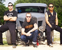 PSYCHOBILLY DELUXE!:  Rockabilly trio The Chop Tops play SLO Brew March 28 at 7:30 p.m. - PHOTO COURTESY OF THE CHOP TOPS