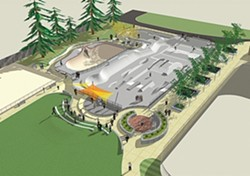 THE FUTURE? :  A rough design for a new Santa Rosa skate park has City Council members' OK, but how to pay for it is still a big unknown. - IMAGE COURTESY OF RRM DESIGN