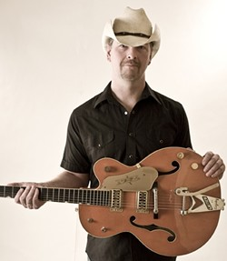 HONKY :  Grant Langston will bring his tongue-in-cheek honky-tonk music to the Frog and Peach on Jan. 20. - PHOTO BY DUFF FERGUSON