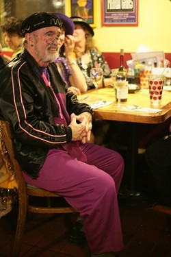 MAN ABOUT TOWN :  Bon vivant, wine connoisseur, and Mardi Gras stalwart Archie McLaren soaks in the sights and sounds. - PHOTO BY GLEN STARKEY