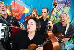 POP! :  Café Musique (left to right: Duane Inglish, Brynn Albanese, Fred Murray, Craig Nuttycombe) joins the SLO Symphony for Pops by the Sea on Sept. 1 at the Avila Beach Golf Resort. - PHOTO BY BRITTANY APP