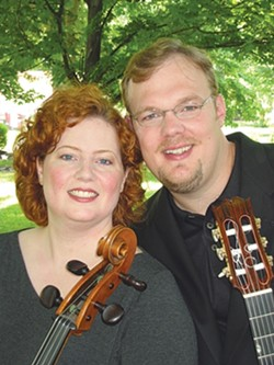 STRINGERS :  National Fingerstyle Guitar champion Richard Smith and virtuoso cellist Julie Adams play two SLOFolks concerts this week: April 17 at Coalesce Bookstore and April 18 at Castoro Cellars. - PHOTO COURTESY OF RICHARD SMITH AND JULIE ADAMS