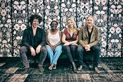 WHEELS OF SUMMER TOUR!:  (Left to right) Doyle Bramhall II, Sharon Jones, Susan Tedeschi and Derek Trucks play June 5 at Vina Robles Amphitheatre. - PHOTO BY GREGG GREENWOOD