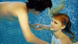 YOUNG LOVE! :  Lennart (Sebastian Warholm,) fantasizes about the beautiful Julia (Heppa Marie Bay) in this dreamy scene from Norwegian writer-director Nina Knag's short Towards the Sun. - PHOTO COURTESY OF NINA KNAG