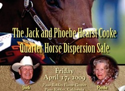 PICTURED BUT OPPOSED :  Phoebe Cooke opposes the sale of her horses and the use of her name and picture in this ad for the April 17 auction. - IMAGE COURTESY OF RICK MACHADO LIVESTOCK