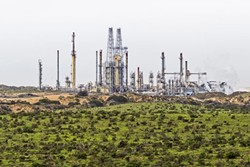 RAIL SPUR RUCKUS:  Members of the Mesa Refinery Watch Group are urging city council members like those in Pismo Beach to oppose plans for a rail spur project proposed by the Phillips 66 oil company. - FILE PHOTO BY KAORI FUNAHASHI