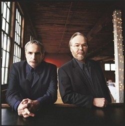 MEN IN BLACK :  Donald Fagen and Walter Becker are the creative geniuses behind legendary rock act Steely Dan, which plays July 25 at the Mid-State Fair. - PHOTO COURTESY OF STEELY DAN