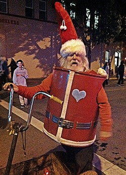 MAYOR DON:  Perpetual mayoral candidate Don Hedrick may show up dressed as Santa on his electric chariot as he's done in years past. - FILE PHOTO BY GLEN STARKEY