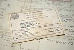 HISTORY :  Rotta Winery was founded in 1908; a 1935 business permit is in the family archive. - PHOTO BY STEVE E. MILLER