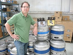 A TASTE OF GERMANY :  Local brewer Doug Martin hopes to spark the enjoyment of freshly brewed, authentic German beer right here on the Central Coast - PHOTO BY PATRICK R. BARBIERI