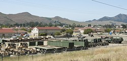 SORRY, CAMPERS :  Michael Bell—who said he's a Vietnam vet—told New Times he was turned away from Camp San Luis Obispo after trying to take advantage of the camp's low-cost overnight RV parking services, as he'd done in years past. - PHOTO BY STEVE E. MILLER