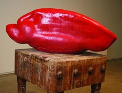 """TACO TONGUE :  Sandi Escobar, raised in Los Angeles, casts some of her pieces from her real tongue, a process she described as """"very, very painful and slobbery."""" - PHOTO COURTESY OF TIM ANDERSON"""