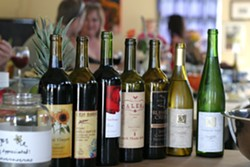 TAKE YOUR PICK :  There was no shortage of wines to choose from, and the fun continued past the 8 p.m. cutoff time. - PHOTO BY GLEN STARKEY