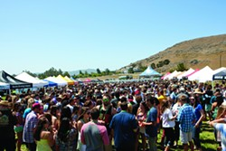 BEER GARDEN :  The California Festival of Beers gathered more than 50 breweries to the Madonna Meadows May 24 to 25 to raise money for Hospice SLO. - PHOTO BY STEVE E. MILLER