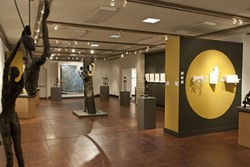 """ARTISTIC INTERSECTION:  """"Paths Intersected,"""" the art of Gail Lapins and Jenny E. Balisle, hangs at the San Luis Obispo Museum of Art at 1010 Broad St. downtown, through Feb. 10. Museum hours are 11 a.m. to 5 p.m. every day but Tuesday. For more information, visit sloma.org."""
