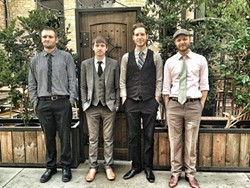 GET DOWN, BOYS! :  L.A.'s hipster bluegrass outfit, the Get Down Boys, plays the Red Barn series on Oct. 13. - PHOTO COURTESY OF THE GET DOWN BOYS