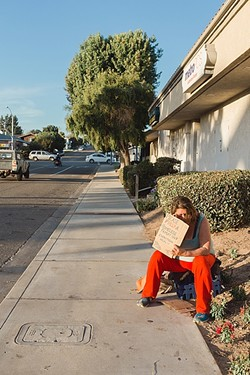 DOWNTOWN WOES:  Some business owners in Grover Beach are concerned that homelessness and vagrancy in the city's downtown are hurting their businesses and causing an unsafe environment for their customers. - PHOTO BY JAYMIE SHEARER