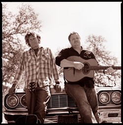 GOOD COUNTRY BOYS :  Templeton resident Mark Adams (left) and Bay Area resident Jesse Harris are Rancho Deluxe; the duo plays June 27 at Paso's City Park Gazebo to celebrate a killer new CD True Freedom. - PHOTO COURTESY OF RANCHO DELUXE