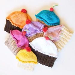ONASMALLSCALE :  Cupcake hats, $24 - PHOTO COURTESY OF ONASMALLSCALE
