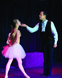 'FLOWER OF THE GUTTER'? :  Edgar Degas and his dancer muse, Marie Van Goethem, are brought to life by Blair London and his real-life daughter Shae (pictured). - PHOTO BY CHRIS WALT PHOTOGRAPHY