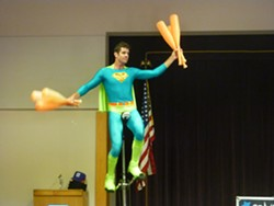 JUGGLING SUPER HEROES :  Juggling troupe Something Ridiculous is one of many guests who liven up the county's libraries as part of the Summer Reading Program. - PHOTO COURTESY OF SAN LUIS OBISPO COUNTY LIBRARY