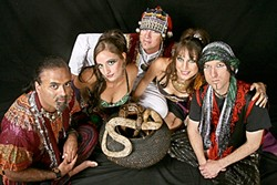 BELLY UP :  Middle Eastern lounge music and bellydancing with fire are what you can expect from Danyavaad and the Shimmy Sisters at the Steynberg Gallery Aug. 27. - PHOTO COURTESY OF DANYAVAAD AND THE SHIMMY SISTERS