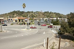 LAST EXIT :  The Highway 101 ramp for downtown Atascadero dumps straight on to El Camino Real (below). This stretch of road ranks among SLO County's most dangerous cycling hazards. - PHOTO BY STEVE E. MILLER