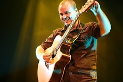 YOUTUBE HERO! :  Guitarist Andy McKee (pictured) found fame on YouTube, where his videos had more than 70 million hits! See him with Grammy-winning rocker Eric Johnson and Mediterranean steel-string player Peppino D'Agostino at the Spanos Theatre on Jan. 14. - PHOTO COURTESY OF CAL POLY ARTS