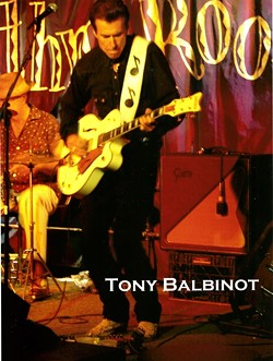 GUITAR SLINGER :  Tony Balbinot and his band the Cadillac Angels promote their 15th studio album, Two Blocks Off Main, with a Nov. 15 show at Frog and Peach. - PHOTO COURTESY OF CADILLAC ANGELS