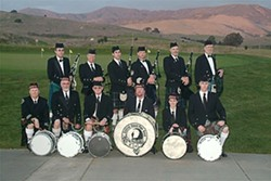 THE GANG'S ALL HERE :  The Central Coast Pipes and Drums participate in the Burns' Night Supper each year. - PHOTO COURTESY OF CENTRAL COAST PIPES AND DRUMS