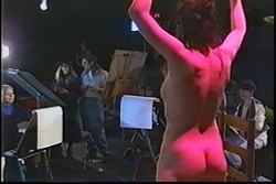 A MUSE :  A model poses for an art class in the film The Nude Model, screening at the Art Center. - PHOTO COURTESY OF ROB THOMPSON