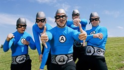 SUPERHEROES OF NERD ROCK! :  The Aquabats bring their awesome multimedia show to SLO Brew on Dec. 15. - PHOTO COURTESY OF THE AQUABATS