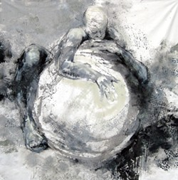A MOTHER'S DREAMS :  Ruggles started her current series three years ago, when a life drawing model happened to bring her exercise ball to a workshop. The maternal image that resulted has stuck with Ruggles ever since. - PHOTO COURTESY OF JOANNE BEAULE RUGGLES