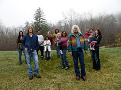 ALL IN THE FAMILY :  Three generations of the Guthrie Clan, including Arlo and his son, three daughters, and seven grandkids, will appear April 20 at the Clark Center. - PHOTO COURTESY OF ARLO GUTHRIE