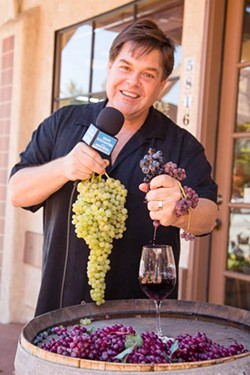 WINE FOR THE PEOPLE:  Grape Encounters Radio Host David Wilson isn't afraid to question the wine status quo. His show, produced in Atascadero and broadcast over about 30 stations nationwide, is all about squeezing as much joy out of the wine tasting experience as possible. - PHOTO BY TOM FALCONER