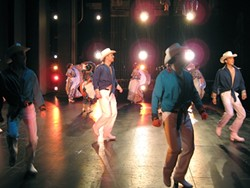 COWBOY HATS AND CHOREOGRAPHY :  Imagen y Espiritu alumni perform the dance from the region of Sinaloa. - PHOTO BY HENRY CASTILLO