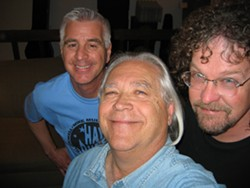THREE DUDES :  Mike Mullins, Wally Barnick, and Kenny Blackwell—collectively known as The Hay Dudes—return to Shine Café for a special dinner show on July 11. - PHOTO COURTESY OF THE HAY DUDES