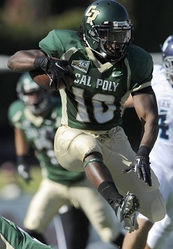 BREAKTHROUGH :  After a productive senior season, Cal Poly tailback Deonte Williams earned a contract offer with the Oakland Raiders on April 27. - PHOTO COURTESY OF CAL POLY ATHLETICS