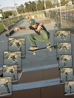 BIG AIR :  Johnny Ransom makes the best of the park. - PHOTOS BY STEVE E. MILLER