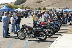 JOIN YOUR FRIENDS:  You like to talk motorcycles? So do these guys who attended last year's bike show! - PHOTO BY STEVE E. MILLER