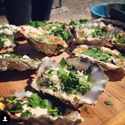 AND DID I MENTION OYSTERS!:  There will be a ton of food and drink on hand, so bring your appetite! - PHOTO COURTESY OF THE CENTRAL COAST OYSTER & MUSIC FESTIVAL