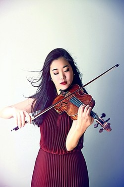 HEART STRINGS:  Kristin Lee will rock the violin during a chamber concert performance featuring music by Michael Fine, Shostakovich, and Beethoven slated for July 26 as part of the Festival Mozaic's 45th season. - PHOTO COURTESY OF FESTIVAL MOZAIC