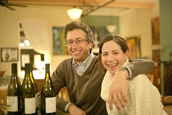 ALL IN THE FAMILY :  Matt and Maria Bennetti were on hand to discuss the wines from Maria's family winery, Treviti, the Stolo Family Vineyard located in Cambria. - PHOTO BY ANNA ROBERTSHAW