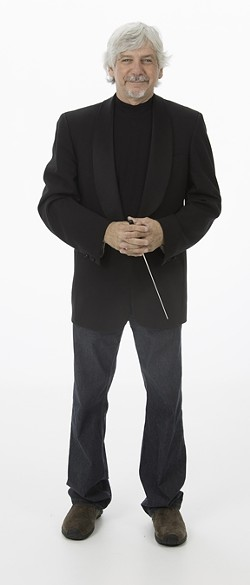 LARGE AND IN CHARGE! :  SLO Symphony conductor Michael Nowak used his Hollywood connections to get two heavy-hitter arrangers to adapt Café Musique's music for an orchestra. - PHOTO COURTESY OF MICHAEL NOWAK AND THE SLO SYMPHONY