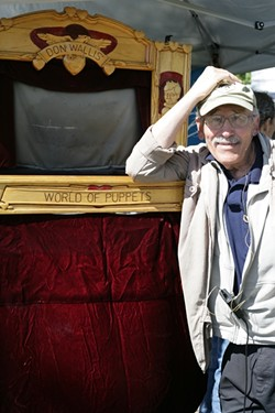THE PUPPET MAN:  Don Wallis, a SLO County fixture for more than 40 years, will read poems from his new book on Oct. 19 at Linnaea's Café and offer a brief puppet show. - PHOTO BY GLEN STARKEY