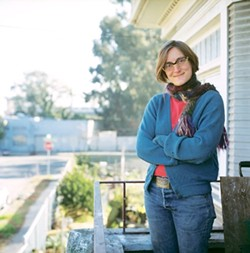 """LADY OF GHOSTTOWN :  Farm City author Novella Carpenter started an urban homestead on an empty lot in Oakland's notorious """"GhostTown."""" - PHOTO BY PAIGE GREEN, COURTESY OF CUESTA COLLEGE"""