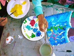 """IMAGINE:  During six weeklong sessions, 180 SLOMA Youth Arts campers—aged 5 years to 16—enjoyed """"brains-on"""" art instruction from talented and inspiring teaching artists, learning to use both observation and imagination in creative ways. - PHOTO COURTESY OF SLOMA"""